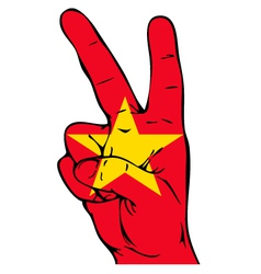 Peace sign of the vietnamese flag vector