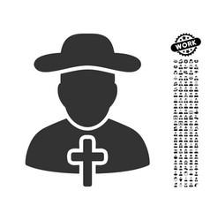 Cleric icon with men bonus vector