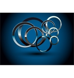 Abstract Metallic Rings vector image