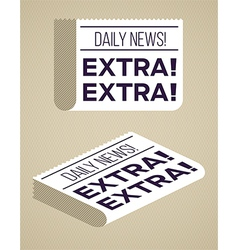 Newspapers vector