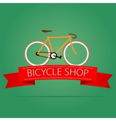 Bike shop icon vector