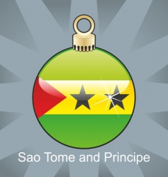 Seo tome and principe flag vector