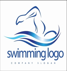 Swimming design vector