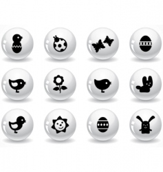 Web buttons easter elements vector