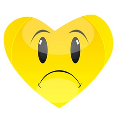 sad heart vector image