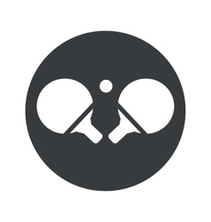 Monochrome round table tennis icon vector