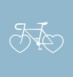 Bicycle with heart shape vector