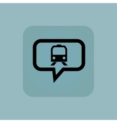Pale blue train message icon vector