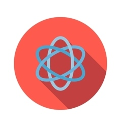 Atom sign flat icon vector