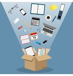 Concept of moving into a new office vector