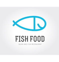 Abstract fish logo template for branding vector