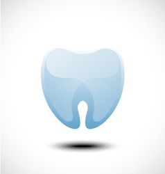 Abstract tooth icon vector