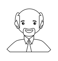 adult male bald head vector image vector image