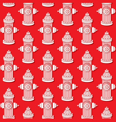 Background pattern with fire hydrants vector