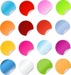 big set of round stickers vector image vector image