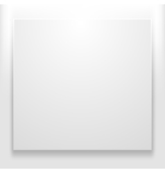Blank white vector image vector image