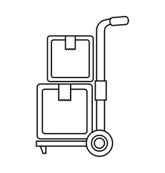 cart boxes delivery icon vector image