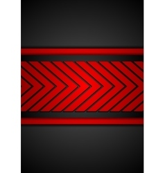 Contrast red black arrows design vector