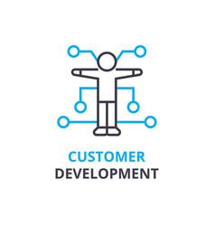 customer development concept outline icon vector image vector image