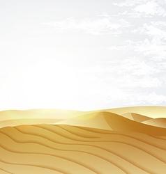 Desert landscape with blue sky vector image