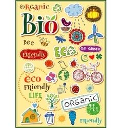 Eco doodles vector
