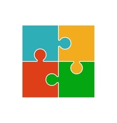 Four piece puzzle vector