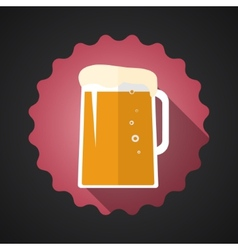 Glass of Beer Flat Long Shadow Icon vector image vector image
