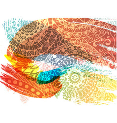 happy holi festival banner design with vector image