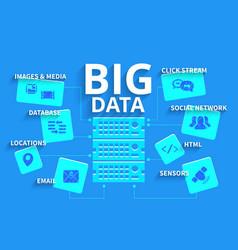 Infographics big data vector