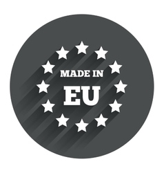 Made in EU icon Export production symbol vector image