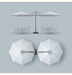 Patio Double Outdoor Cafe Bar Restaurant Parasol vector image