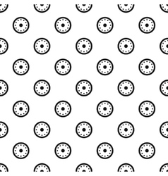 Round shield with metal rivets pattern vector