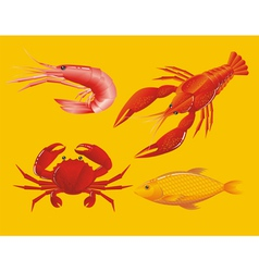 seafoods vector image vector image