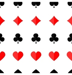 Seamless poker background with suits vector