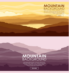 set of mountain landscapes vector image vector image
