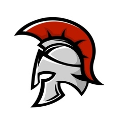 Spartan warrior helmet sports team emblem vector