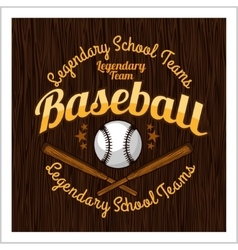 Vintage baseball label and badge - stock vector image vector image