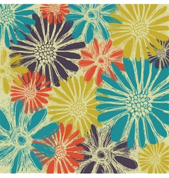 Vintage romantic seamless pattern with summer flow vector image vector image