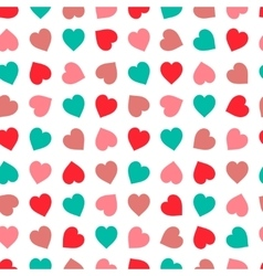Hearts seamless pattern in pastel colors hand vector