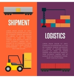 Logistics and shipment banner set vector