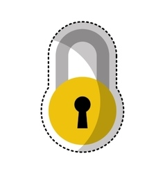 Padlock secure isolated icon vector