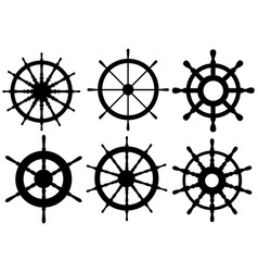 set of different rudders vector image