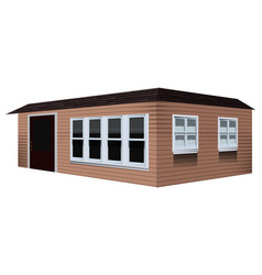 small house painted in brown vector image
