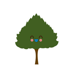 kawaii tree nature forest image vector image