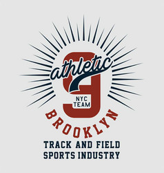 Graphic athletic nyc team brooklyn vector