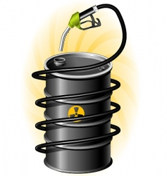 Oil drum and fuel pump vector
