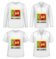 Sri lanka shirt vector