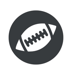 Monochrome round rugby icon vector