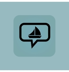 Pale blue sailing ship message vector