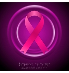 Breast cancer awareness month abstract circles vector